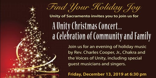 A Unity Christmas Concert - a Celebration of Community and Family