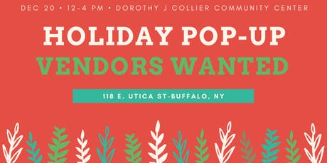 Holiday Pop-Up Market @ Dorothy J Collier Community Center tickets