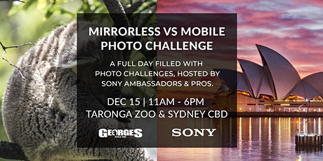 Mirrorless Vs Mobile (Wildlife, Portrait & Landscape Challenge) with Sony tickets