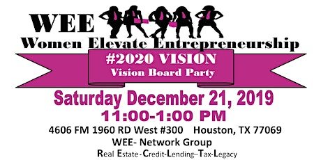 2020 Vision Board Party with WEE-Women Elevate Entrepreneurship Network Group tickets