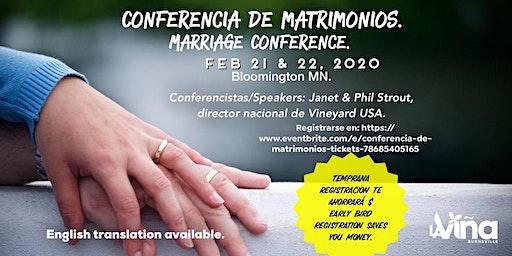 Conferencia de Matrimonios / Marriage conference.