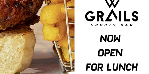 Grails Sports Bar Now Open for Lunch
