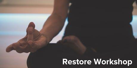 Restore Workshop - Yin, Sound Healing & Reiki  tickets