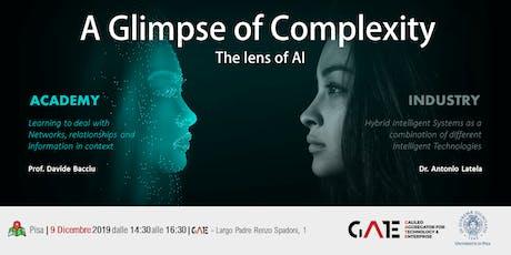 A glimpse of complexity, the lens of AI biglietti