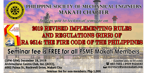 Technical Seminar on Revised Implementing Rules & Regulations for RA 9514