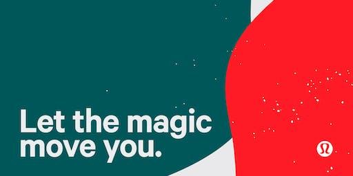 Let the Magic Move You  yoga & pre-shopping