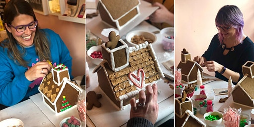 Custom Artisan Gingerbread House Decorating for Adults