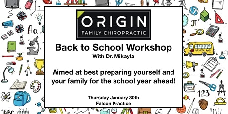 Back to School Workshop with Dr. Mikayla tickets