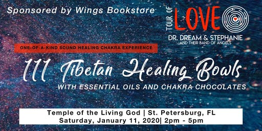 111 Healing Bowls, Essential Oils & Chocolate Experience, St. Petersburg, FL