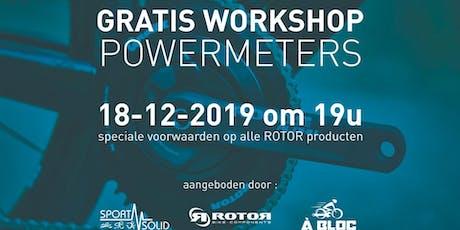 Powermeter workshop powerd by À Bloc, Rotor en Sportsolid tickets