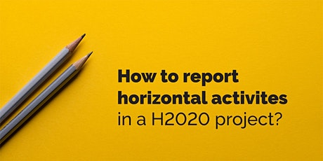 How to report horizontal activities in a H2020 project? tickets