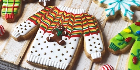 """Ugly"" Sweater Hello Winter Cookie Decorating Workshop for Kids and Adults tickets"