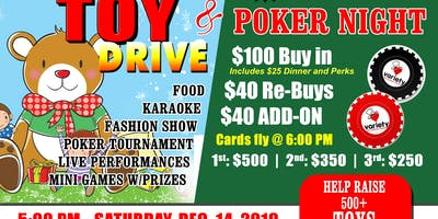 3rd Annual Christmas Toy Drive & Charity Poker Fundraiser