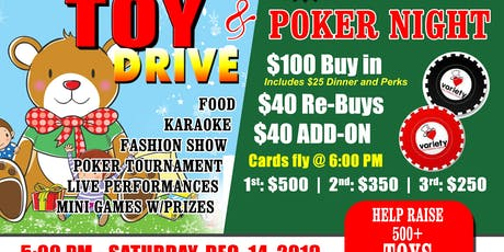 3rd Annual Christmas Toy Drive & Charity Poker Fundraiser tickets
