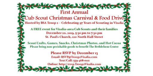 Troop 2 Cub Scout Christmas Carnival