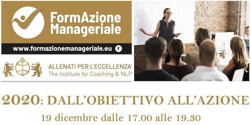 """Workshop Gratuito  COACH  """"2020: DALL'OBIETTIVO ALL'AZIONE """""""