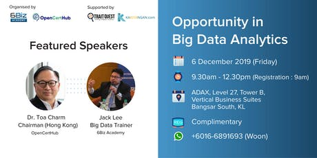 Opportunity in Big Data Analytics tickets