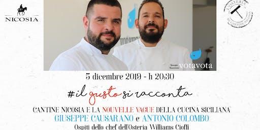 """""""Il gusto si racconta"""": La Grande Cucina di Votavota da Cantine Nicosia"""