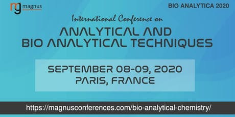 International Conference on Analytical and Bio analytical Techniques tickets