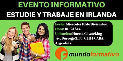 Estudie y Trabaje en Irlanda (Evento Informativo - Buenos Aires - Argentina - 18-12-19)