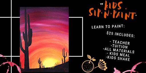 Sip'n'Dip - Learn to paint Cactus