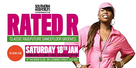 RATED R - Classic R&B/Future Dancefloor Grooves tickets
