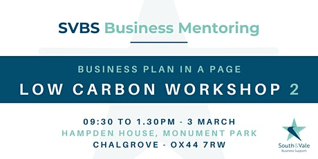 Business Plan on a Page - Low Carbon Workshop 2 tickets