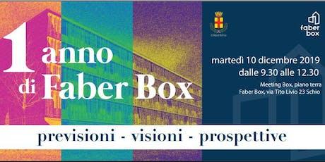 1 anno di Faber Box: previsioni - visioni - prospettive biglietti
