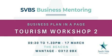 Business Plan on a Page - Tourism Workshop 2 tickets