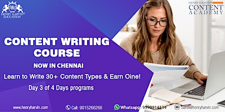 Day 3 Content Writing Course in Chennai tickets
