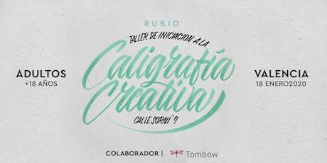 Taller de iniciación de Caligrafía Creativa. RUBIO - 18 ENERO  - Valencia tickets