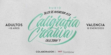 Taller de iniciación de Caligrafía Creativa. RUBIO - 18 ENERO  - Valencia entradas