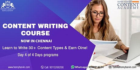 Day 4 Content Writing Course in Chennai tickets