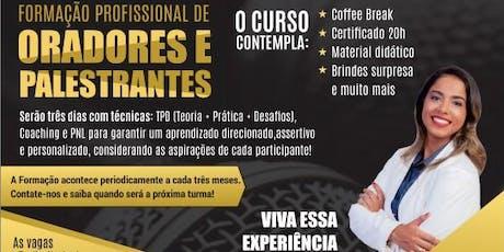 FORMAÇÃO PROFISSIONAL DE ORADORES E PALESTRANTES - ORATÓRIA EXPLOSIVA ingressos