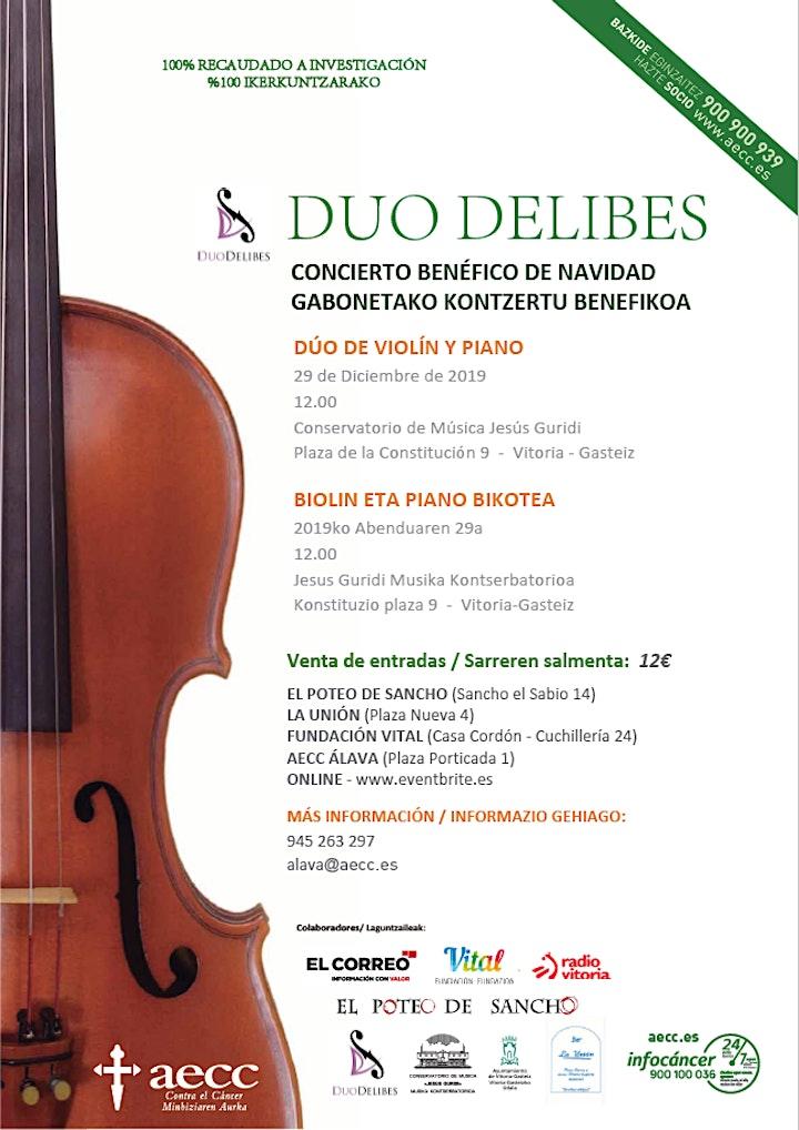 Imagen de DUO DELIBES - Concierto Benéfico de Navidad de piano y violín