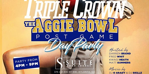 TRIPLE CROWN Day Party |@ SUITE (Atlanta) | hosted by Darren Brand + Fred Whit + Kwagi Heath + Matt Summers