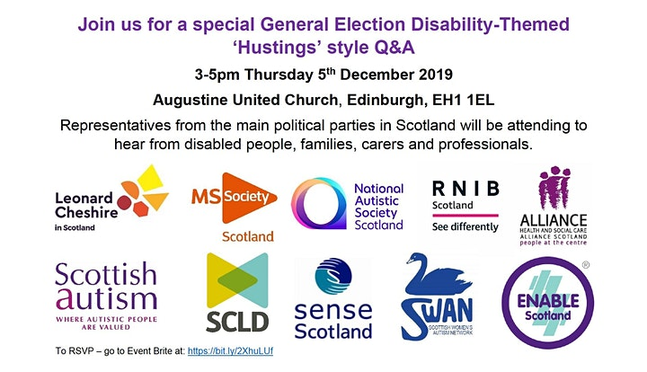 Disability-themed General Election 'Hustings' style Q&A Event image