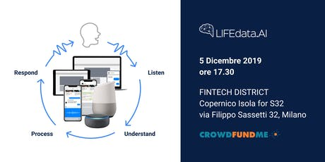Intelligenza Artificiale Voice in Crowdfunding - LIFEdata con CrowdfundMe biglietti