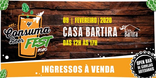 4º CONSUMABEER FEST - 2020 - Cerveja sem frescura!