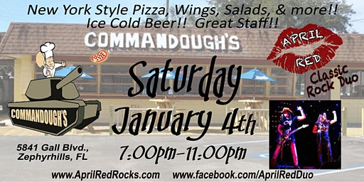 April Red Rockin' Commandoughs Pizza Bar in Zephyrhillls!