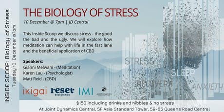 INSIDE SCOOP - The Biology of Stress tickets