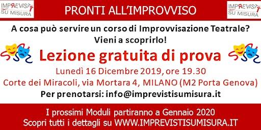 Lezione gratuita Improvvisazione Teatrale