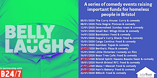 Belly Laughs with Bristol24/7 at The Curry House: food and comedy