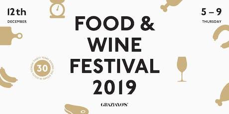 Graziano's Food and Wine Festival 2019 tickets