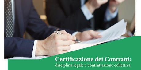 Certificazione dei contratti: disciplina legale e contrattazione collettiva biglietti