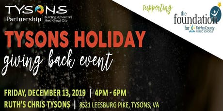 """Tysons Holiday """"Giving Back"""" Event at Ruth's Chris tickets"""