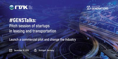 #GENSTalks Germany: Startup pitch session in transportation and leasing