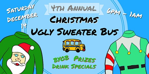 4th Annual Ugly Sweater Party Bus
