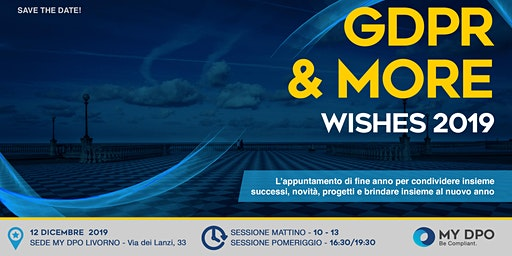 GDPR & MORE - WISHES 2019 - Livorno