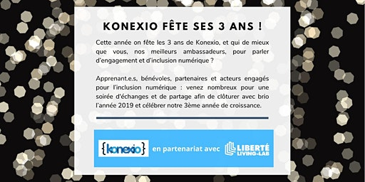 Konexio fête ses 3 ans avec les acteurs de l'inclusion numérique !
